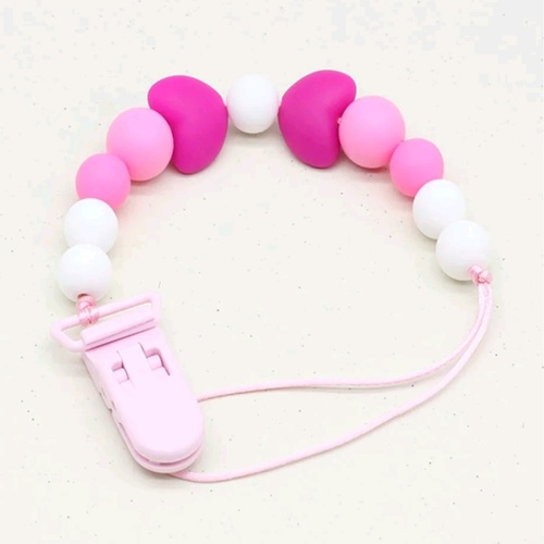 Beadsy Clip Heart (Pink)