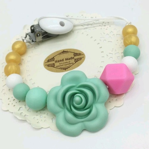Beadsy Clip Rose (Green)
