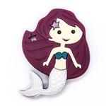 Baby Teether Mermaid Pearl Silver