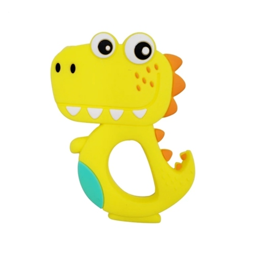 Baby Teether Happy T-Rex (Yellow)