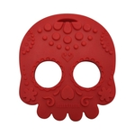 Baby Teether Sugar Skull Red