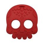 Baby Teether Sugar Skull Red