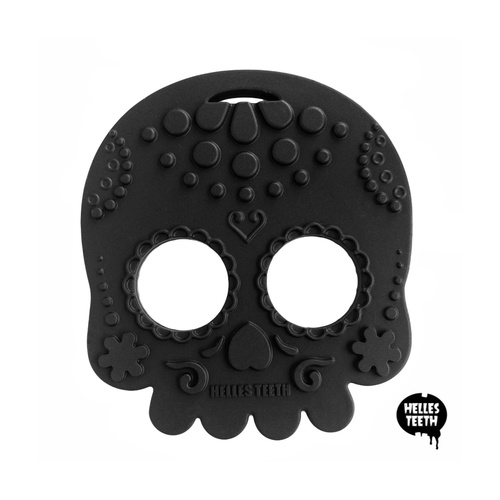 Baby Teether Sugar Skull Black