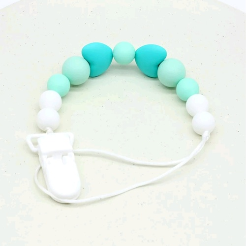 Beadsy Clip Heart (Turquoise)