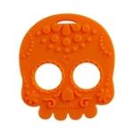 Baby Teether Sugar Skull (Orange)