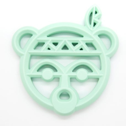 Baby Teether Warrior Bear Mint