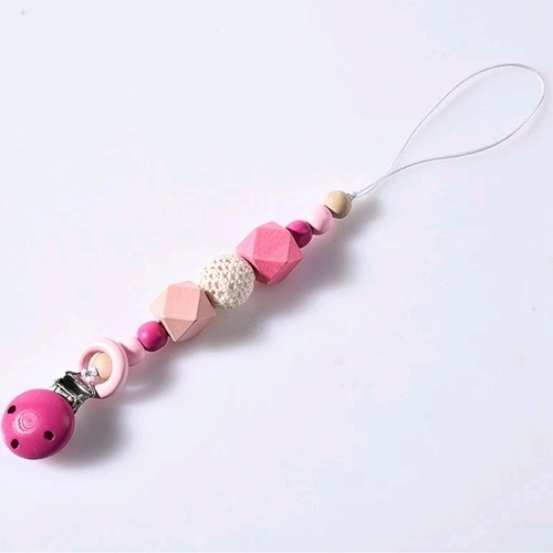 BB Wooden Chain Hot Pink
