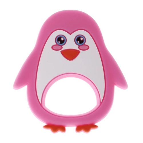 Baby Teether Penguin (Pink)