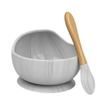 Silicone Bowl Set Marble