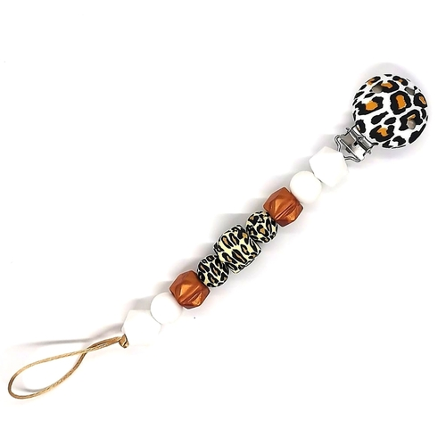 Leopard Beadsy Clip