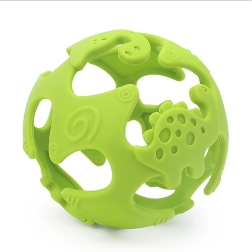 Dino Teething Ball Green