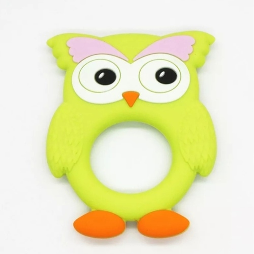 Brow Owl Teether Lime