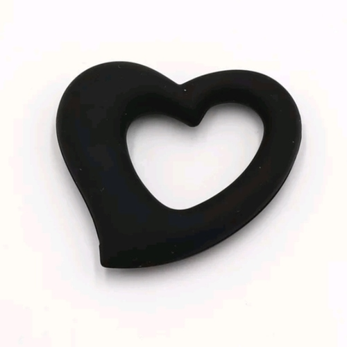 Baby Teether Heart (Black)