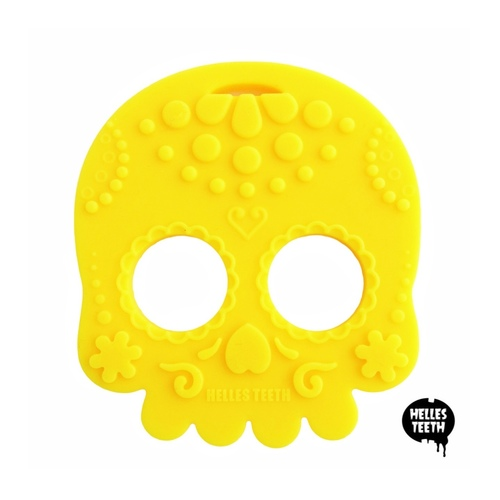 Baby Teether Sugar Skull (Yellow)
