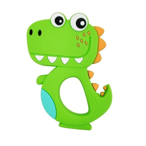 Baby Teether Happy T-Rex (Green)
