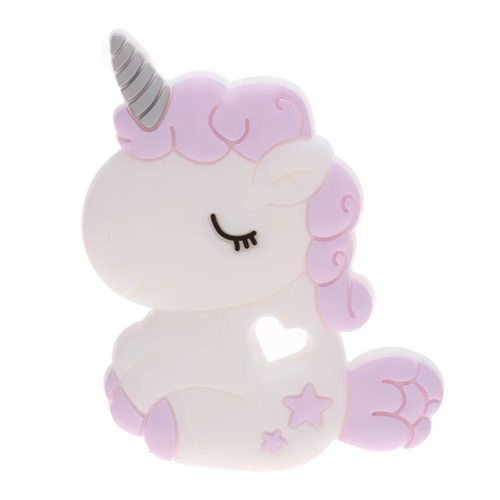 Baby Teether Chubby Unicorn Purple