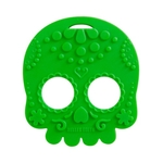 Baby Teether Sugar Skull (Green)