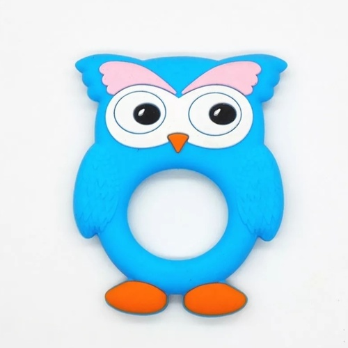 Brow Owl Teether (Blue)