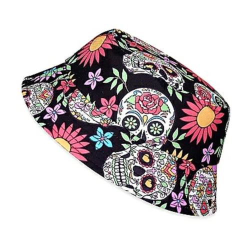 Sugar Skull Bucket Hat