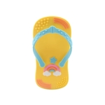 Baby Teether Flip Flop Yellow