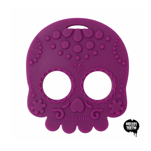 Baby Teether Sugar Skull Purple