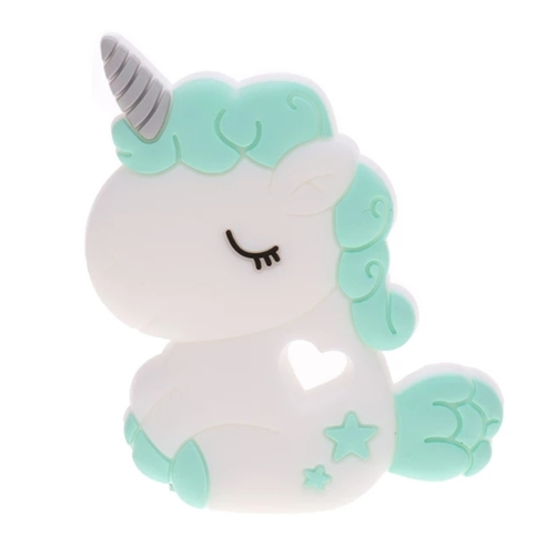 Baby Teether Chubby Unicorn (Green)
