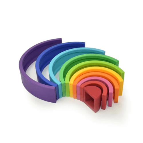 Rainbow Silicone Stacker Large