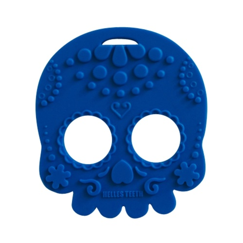 Baby Teether Sugar Skull Blue