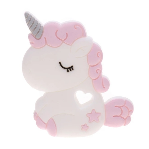 Baby Teether Chubby Unicorn Pink