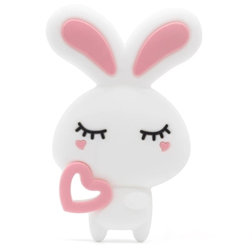 Baby Teether Bunny (White)