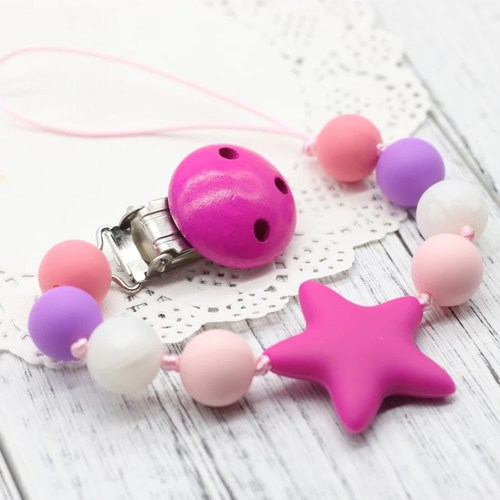 Beadsy Clip Star (Hot Pink)