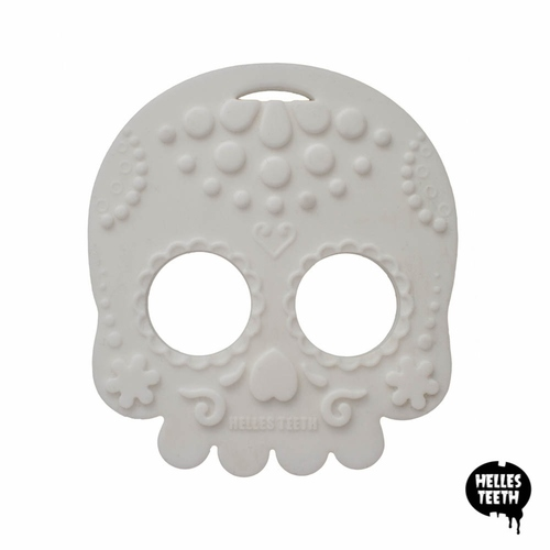 Baby Teether Sugar Skull (White)