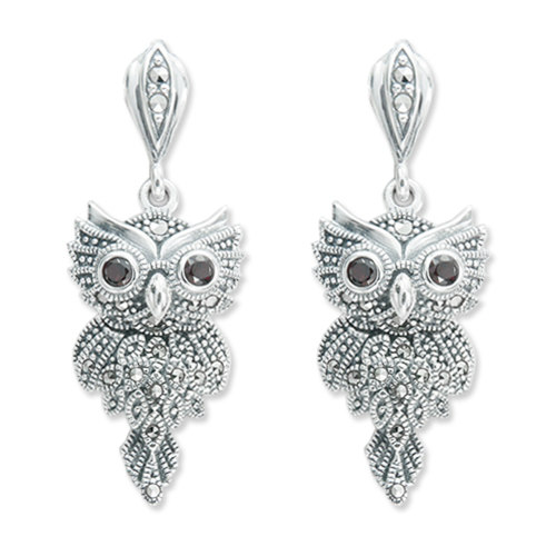 Owl Earrings with dangling tail