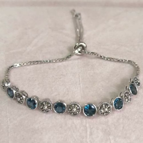 Loop Bracelet *London Blue Topaz