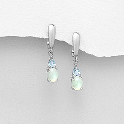 Preciada *Opal & London Blue Earrings