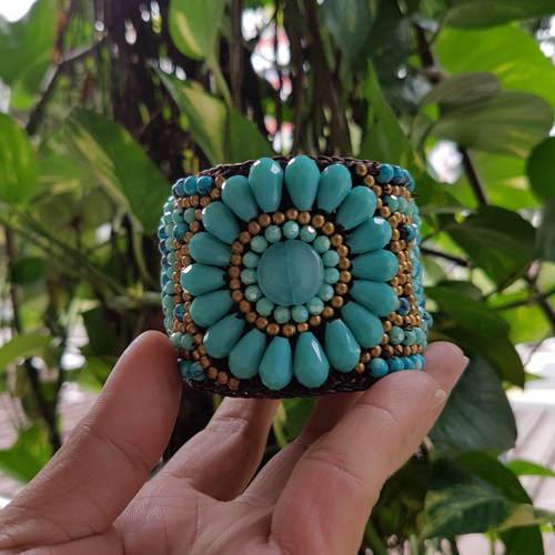 Bohemian Bangle Blue