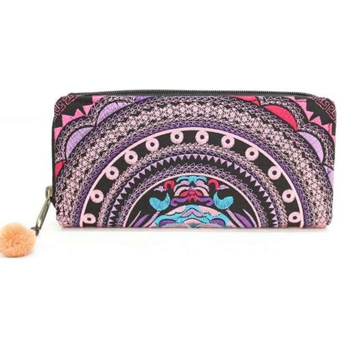 Embroidered wallet *Purple