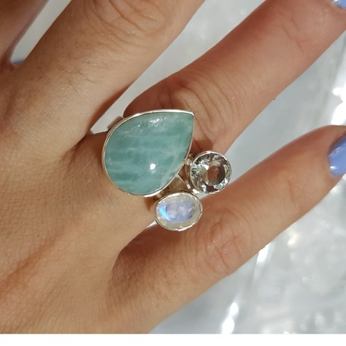 One-Of-A-Kind Amazonite Ring