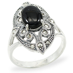 Halo Edge Ring Onyx
