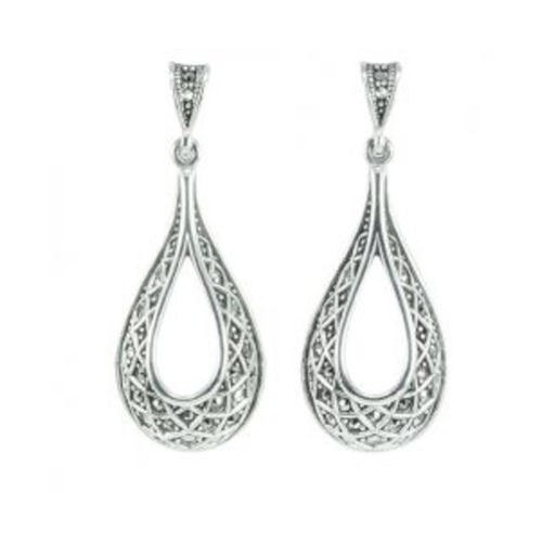 HE1346 Marcasite Dangling Earrings