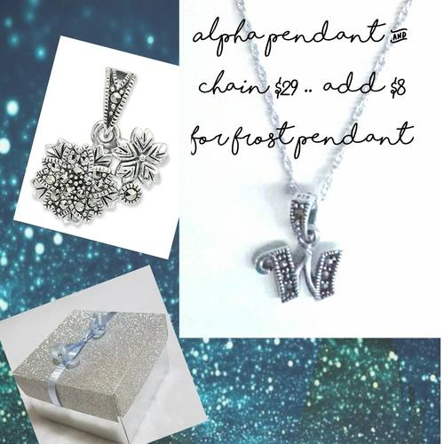 Frost Pendant Gift Set With Alpha Penant