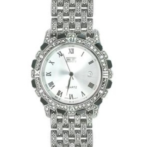 MEN Marcasite Silver Watch HW0151