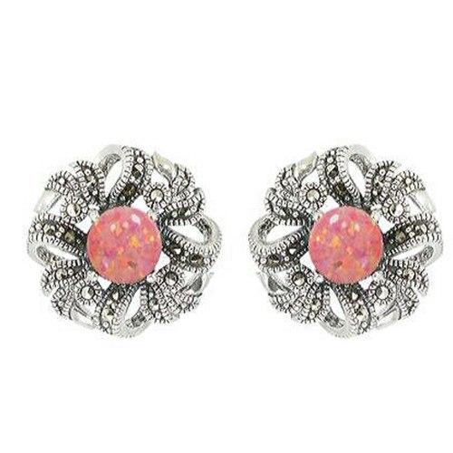 Flora & Leaves Pink Opal