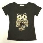 Owl Tattoo Black