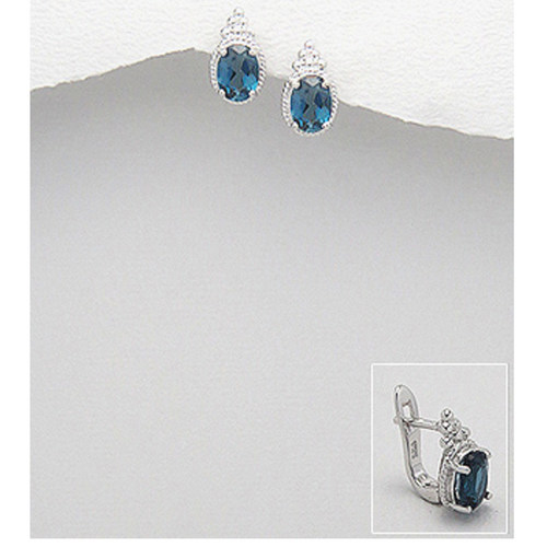 Preciada Classics London Blue - Ear Studs Oval