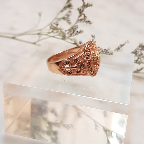 Paradise Bird Ring RoseGold