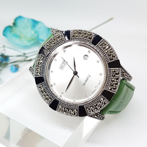 Calf Leather Watch Onyx HW171