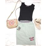 Korea Chic Cotton Skirt *Green