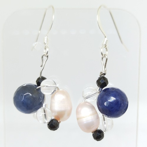 Wired bead earrings