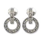 Open work loop earrings